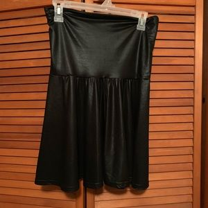 American Apparel faux leather strapless dress